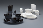Dinnerware in White and Dinnerware in Black