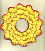 Large Yellow Ruffle Bracelet