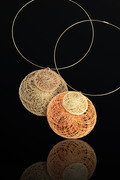 Orange & Gold discs on gold cable
