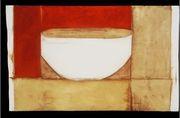 porcelain bowl, gouache on paper