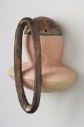 pink knob/bronze ring
