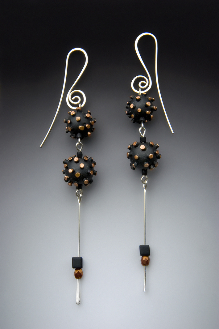 Spikey Bead Earrings