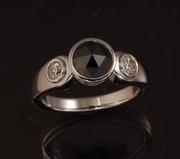 ring black dia plat