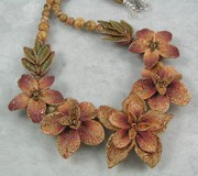 Antiqued Flora Bead Necklace