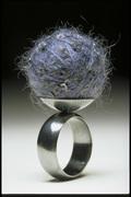 blue scoop ring