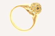 18k blue diamond ring