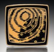 Hokusai brooch