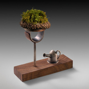 Moss Ring with Watering Can