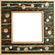 Wood Mosaic Mirror Frames