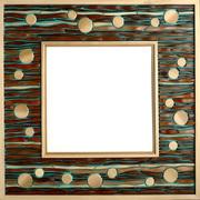 Wood Mosaic Mirror Frames