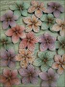 Leather Like Flora Beads