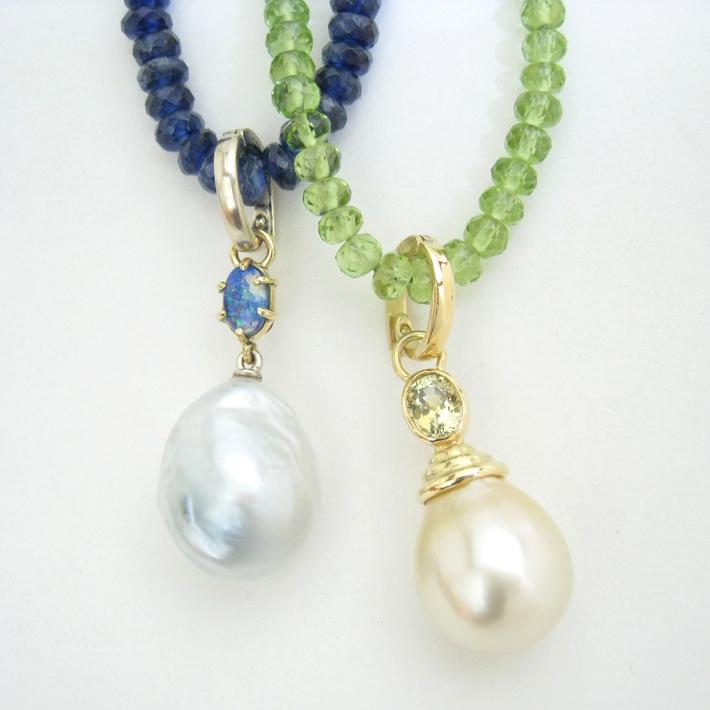South Sea Pearl Pendants.