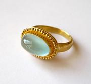Aquamarine 22k ring