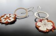 Silk Flower Earrings