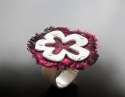Silk Flower Ring
