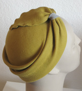 Antique Gold and Gray Hat