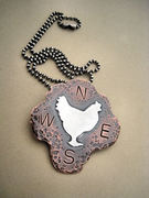 Chicken Weathervane Necklace