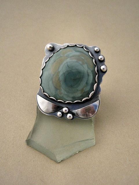 Ojitos imperial Jasper ring