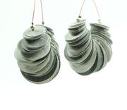 non woven polyester earrings