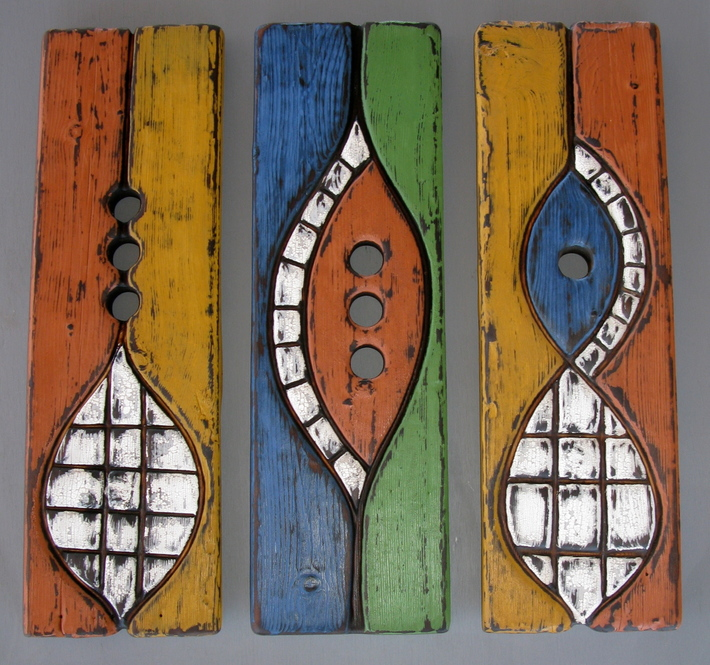 Colored panels - bee nests