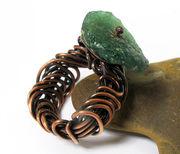 Roman Glass Scribble Ring