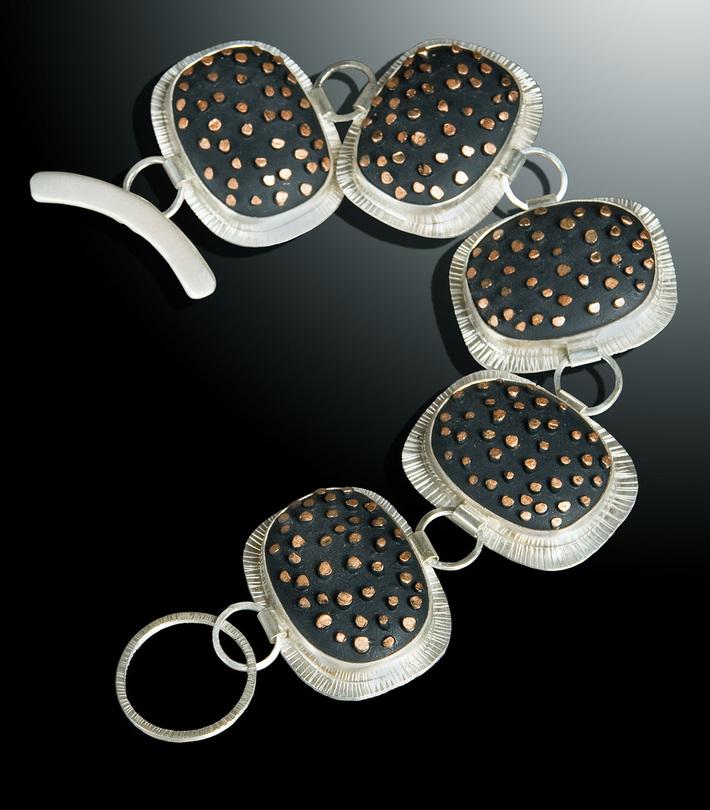 Coppery Spikes Bracelet