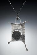 Calder Black Jade Surface pendant