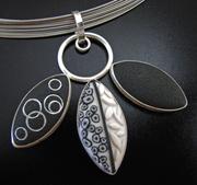 Three Petals Pendant, Black and White Series