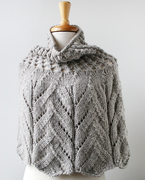 Hand-Knit Organic Merino Wool Capelet