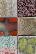underglaze and overglaze drawing and painting enamel example
