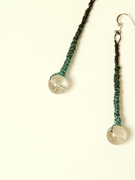 Green ombre earrings