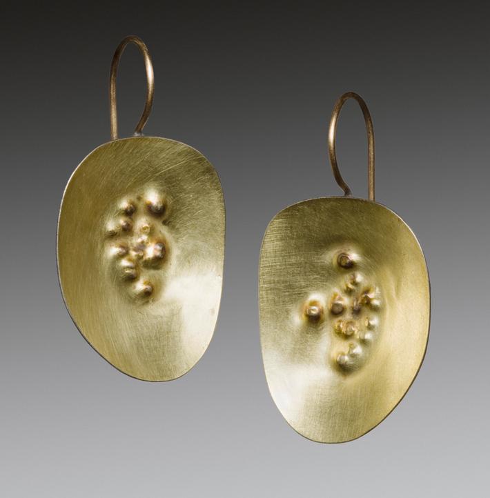 gold dimple earrings