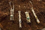 Meteorite earring group