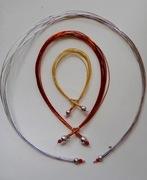 mizuhiki bracelet, and 2 pendants