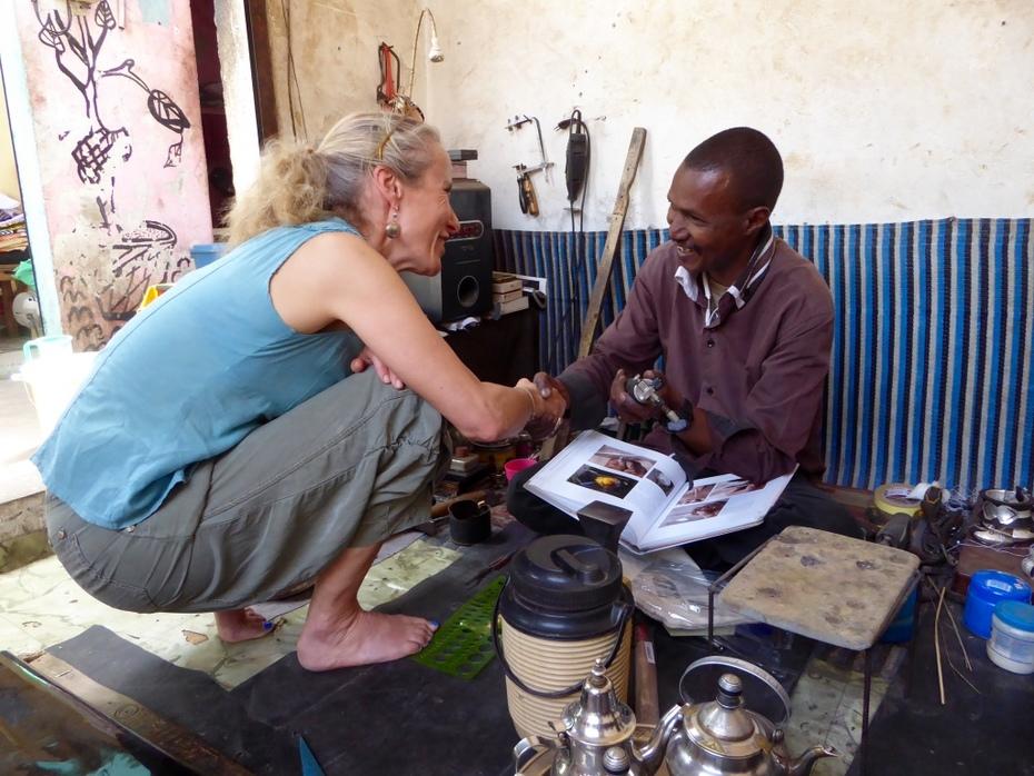 Donating my first torch to Haruna.  Dakar 2017