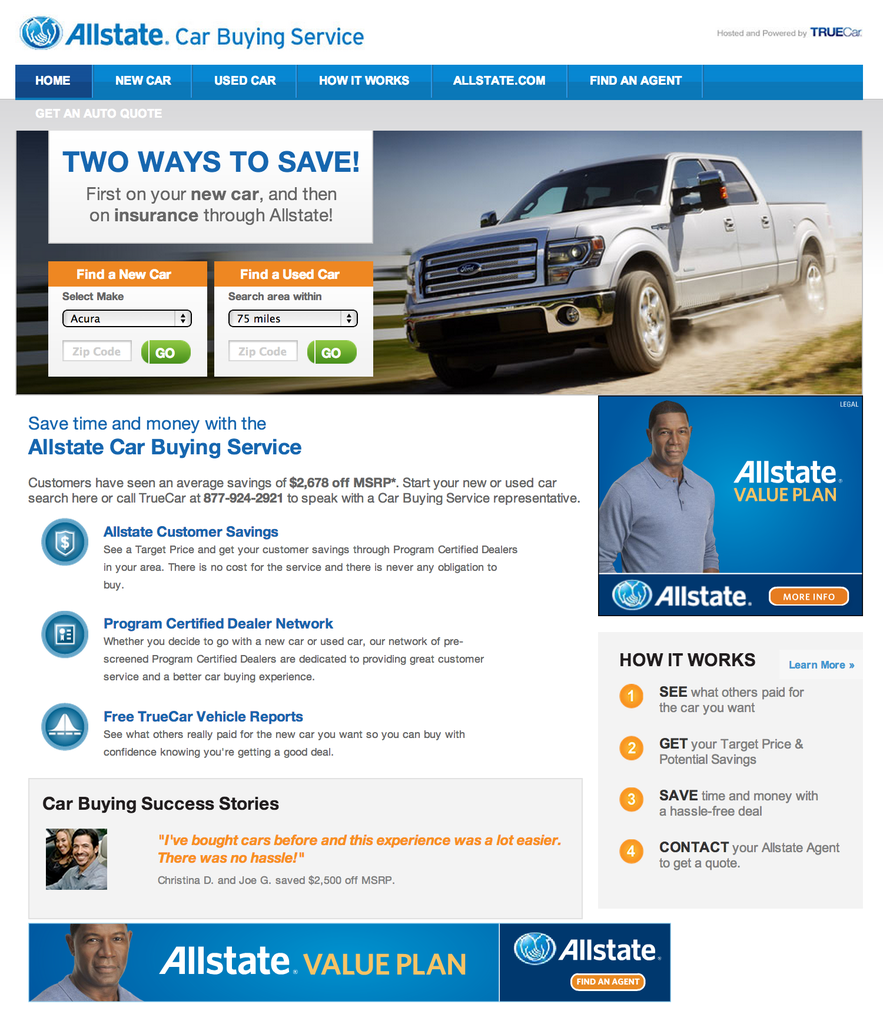 Truecar Expands Lead Generation Network By Partnering With Allstate