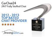 CarChat24 Top Rated Chat Provider Award