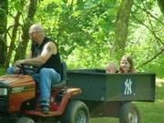 John still mowing