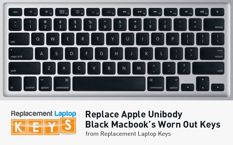 Replace Apple Unibody Black Macbook's Worn Out Keys