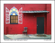 Behind the Saffron Cafe, Indianapolis, Indiana