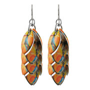 Orange You Lovely Petals to the Metal Mixed Media Earrings