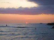 Kewalo Surfer at sunset