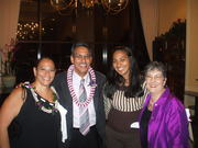 Mari Villa, Lieutenant Governor Duke Aiona, (? Mari's daughter) & Lusana @ HHP awards