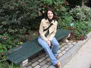 Rosemarie on bench2