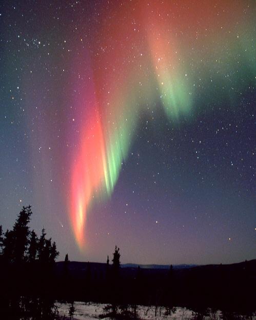 AURORA WITH STARS