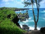 Black sand beach, Maui