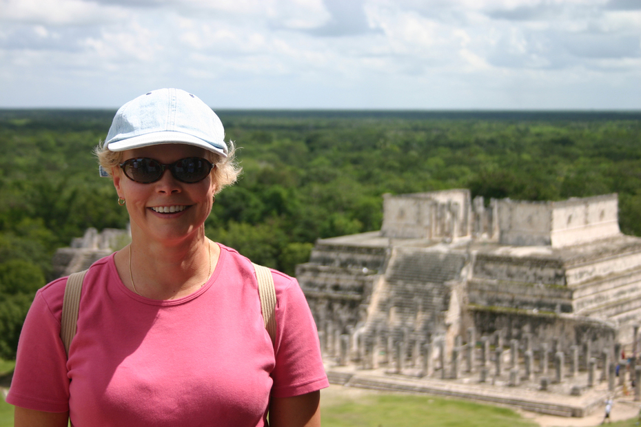 At the top of Chichen Itza