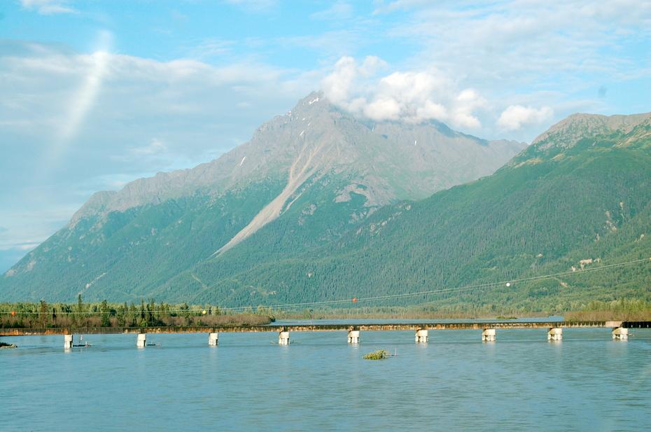 Knik River inland