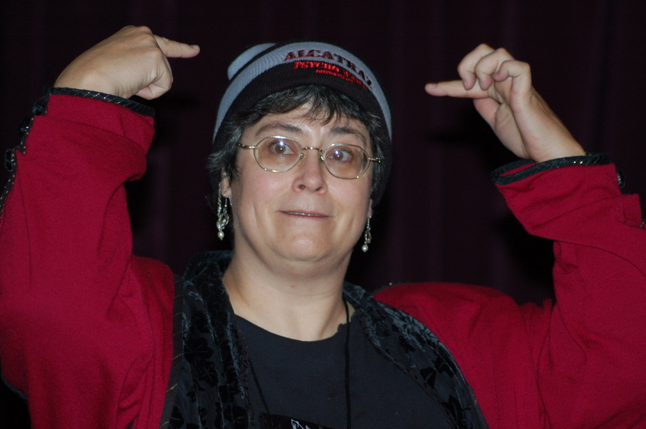 Donna in Alcatraz Hat