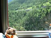 Ted on the Train to Zermatt